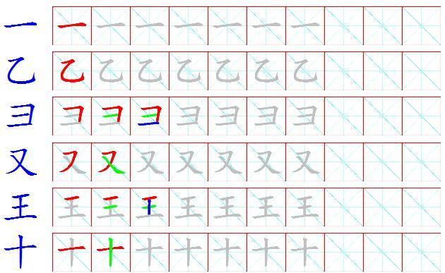 笔画笔顺顺序-习一(请注意按笔画顺序书写)-和码文章